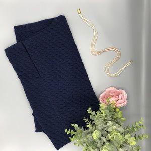 Michael Kors textures navy stretch pencil skirt